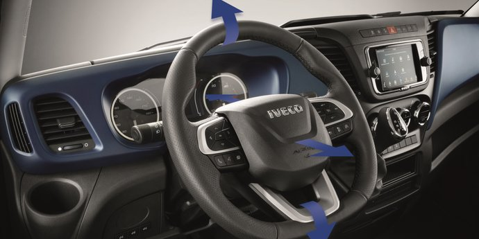 Verstellbares Lenksystem des IVECO Daily Hi-Matic Wohnmobils